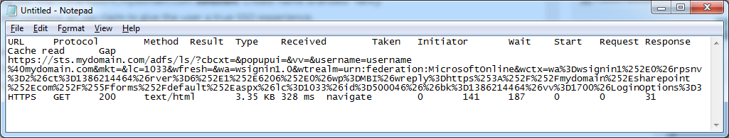 Office 365 - Federated URL - Notepad
