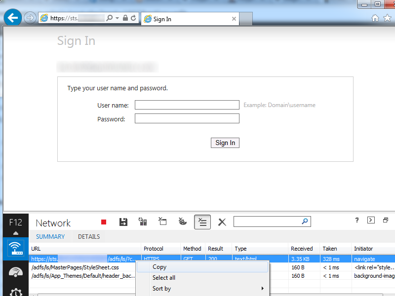 Office 365 - Federated URL